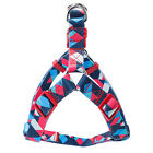 Adjustable Nylon Dog Harness Leash Set Printed Puppy Vest Pet Walking Traiy1