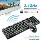 US 2.4G Wireless Gaming Keyboard and Mouse set 4800mAh Rechargeable LED Rainbow