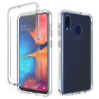 For Samsung Galaxy A20S Shockproof Armor Clear Case Cover+Full Screen Protector