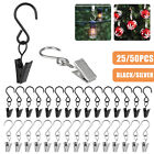 25/50pcs Stainless Curtain Clips With Hook for Photo Home Decoration Party Light