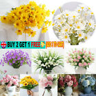 Artificial Fake Silk Flowers Outdoor Plant Bride Wedding Garden Home Party Decor