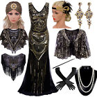 Vintage 1920s Beaded Flapper Gatsby Wedding Prom Long Evening Party Formal Dress