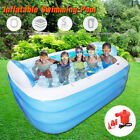 3-Layers Inflatable Swimming Pool With Air Pump Garden Outdoor Paddling Pools M