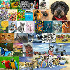 5D DIY Diamond Painting Animals Dog Cross Stitch Embroidery Mosaic Craft Kits UK