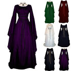 Womens Renaissance Medieval Maxi Dress Roleplay Halloween Witch Cosplay Costume