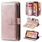 For Iphone 11 Pro Max 8/7/6s Plus Xs Pu Leather Wallet Card Slot Case Flip Cover