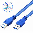 USB to USB Cable Superspeed USB 3.0 Type A Male to Type A Male Wire Cable Cord