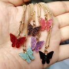 Fashion Acrylic Butterfly Pendant Necklace Chain Women Wedding Party Xmas Gift
