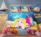 3D Anemone Mermaid ZHUA2291 Bed Pillowcases Quilt Duvet Cover Set Queen King Zoe