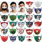 Christmas Print Adult Reusable Face Mask Mouth Nose Masks Breathable Washable Us