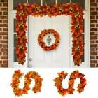 180cm Artificial Autumn Fall Maple Leaves Plant Garland Hanging Home Party Decor
