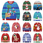 Women Men Couples Xmas 3D Print Sweater Jumper Christmas Ugly Funny Pullover Top