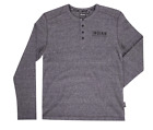 Men's Indian Motorcycle Long-Sleeve Waffle Piquet T-Shirt, Gray