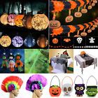 LED Paper Pumpkin Lantern Lights Garland Ghost Spider Web Halloween Decoration