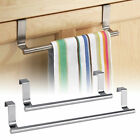 Kitchen Towel Rack Hanger Holder Cabinet Over Door Storage Shelf Stainless Steel