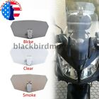 3 Colors Adjustable Motorcycle Clip-On Windshield Extension Air Wind Deflector