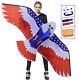 HONBO Huge Patriotic Eagle Kites for Adults and Kids,Easy to Fly for Beach Trip,