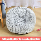 Pet Cat Dog Calming Bed Round Nest Warm Soft Dount Plush Sleeping Kennel Bag