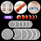 Silicone Resin Molds Crescent Full Moon Phase Epoxy Casting Coaster Tray Making