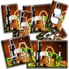 BEER MUG GREEN HOPS BASKET LIGHT SWITCH OUTLET WALL PLATE KITCHEN DINER HD DECOR