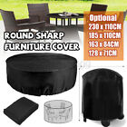 4 Sizes Waterproof Round Furniture Cover Outdoor Garden Dust Rain Protection Au