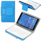 "For 9.7"" 10.1"" 10.2"" Tab Universal Folio Leather Case Cover Wireless Keyboard US"