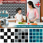 20pc Kitchen Tile Stickers Bathroom Mosaic Sticker Self-adhesive Wall Home Decor