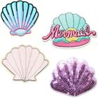 Shell Mermaid Patch Iron On Embroidery Embroidery T Shirt Cap Mask Fabric Cloth