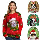 Unisex Christmas Sweater Funny Women Men Xmas Jumper Sweatshirt Tops pullover