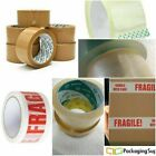 Packaging Tape Top Spec Quality Clear Brown & Fragile 92M Long Roll Tracked Post