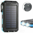 Fast Charger 900000mAh Traveling Solar Power Bank 2USB Backup Battery Charger US