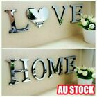 Love/home 4 Letters Acrylic Mirror Effect Wall Sticker Decal Diy Art Decor Hot