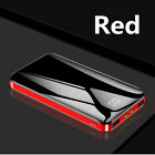 Ultra-thin 900000mAh Power Bank 2USB LED External Battery Charger For Cell Phone