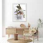 Home Hanging Decor Print Paper Canvas Wall Art - King Protea White Series Poster