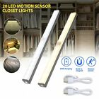 20 LED Motion Sensor Closet Lights USB Rechargeable Wireless Under Cabinet Lamp