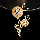 Dandelion Brooches Copper Cubic Zircon Jewelry Pins For Women Girls Xmas Gift