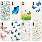 Lucky Butterfly Cases For iPhone 11 Pro Max Clear TPU Soft Protective Skin Blue