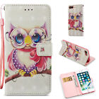 For 6 6s 7 8 Plus Wallet Case 3d Leather Phone Cover Card Slot Stand