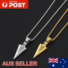 Mens Jewellery Arrow Pendant Necklace With Chain Fashion Free Shipping Australia