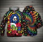 Unisex Jerry Garcia Grateful Dead Rock Band 3D Hoodie All Over Prints