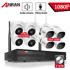 2way Audio Wireless Security Camera System Outdoor 8CH 1/4TB HD Waterproof Home