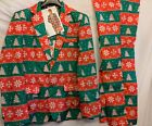 Men's Tacky Novelty Christmas Holiday suit with tie sz M & L - New with tags