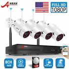 ANRAN Outdoor 1080P Home Security Camera System Wireless 4Pcs 1TB HDD CCTV Kit