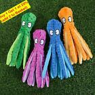 8 Legs Octopus Soft Stuffed Plush Squeaky Dog Squeakers Toy Sounder UK