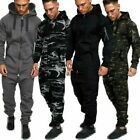 Men's Winter Warm Long Sleeve Camouflage Print Jumpsuit Playsuit Overalls Zipper