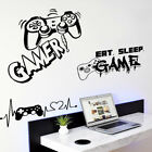 Removable Wall Stickers Game Master Gamepad For Teenager Bedroom Wall Art Decals