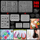 Silicone Resin Casting Mold DIY Keychain Jewelry Pendant Making Tool Epoxy Craft For Sale