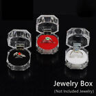Jewelry Package Ring Earring Box Acrylic Transparent Wedding Display Case