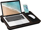 LapGear Home Office Lap Desk with Device Ledge, Mouse Pad, and Phone Holder - Bl