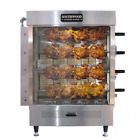 SOUTHWOOD RG4 4-Spit Gas Rotisserie, NG/LP, Casters!